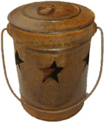 Craft Outlet Rustic Star Candle Bucket, 4 by 10cm by 15cm