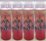 Santeria Collection Shango O Chango Vela Roja Con Imagen a Todo Colour - SETS DE 2 o 4