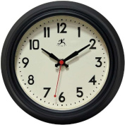 Infinity Instruments 14751BK-3773 Cucina Silent Wall Clock