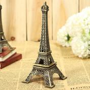 Bronze Tone Paris Eiffel Tower Figurine Statue Vintage Model Decor Alloy 4 Sizes