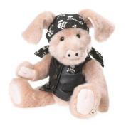 Boyds Bears - Bears Like You Lifestyle Plush - Skully Biker Pig - 30cm