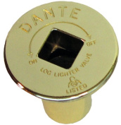Dante Products FP.BV.BR Polished Brass Floor Plate for Dante Ball Valve