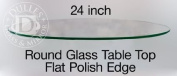 60cm Inch Round Glass Table Top, 0.6cm Thick, Flat Polish Edge, Tempered Glass