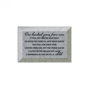 One Hundred Years From Now Glass Plaque with Easel Back