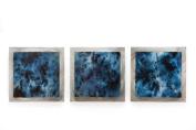 Metal Art Studio 'Storm Essence' Layered Metal Art, Blue/Silver