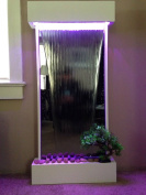 Wall WaterFall XL 120cm x 60cm Vertical Mirror , Colour Lights Remote Ctrl by JERSEY HOME DECOR