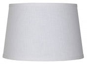 White Linen Drum Lamp Shade 10x12x8