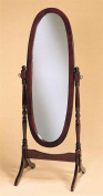 Legacy Decor Swivel Full Length Wood Cheval Floor Mirror, Cherry New