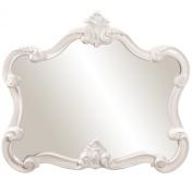 Howard Elliott 56032 Veruca Rectangular Mirror, 70cm by 80cm , Glossy White Lacquer