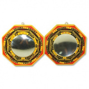 Set of 2 Chinese Feng Shui Bagua Mirror Convex & Concave