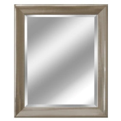 Head West Transitional Brushed Mirror, 70cm by 90cm , Nickel