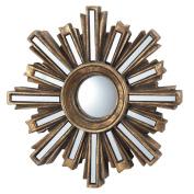 Gold Deco Sunburst Convex Wall Mirror