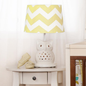 Lolli Living Lamp Base and Shade, Green Zig Zag/Owl