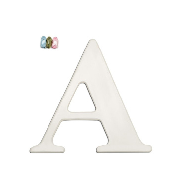 . By Design White Wall Letter A