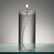 15cm Refillable Glass Pillar Candle - Memory, Unity and Window Candle without the Wax Mess - Use Alone, in a Candle Holder or Lantern - For use in the Interior of Your Home