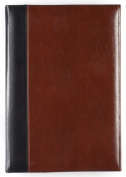 Pinnacle 180 Pocket Faux Leather Photo Album, 2-Tone Black and Brown