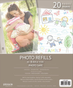 Pinnacle Frames and Accents Photo Album Refill Pages, 22cm by 28cm