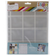 Simple Stories Snatp! Insta Pocket Pages for 15cm by 20cm Binders with 5.1cm by 5.1cm Pockets, 10-Pack