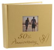 50th Wedding Anniversary Photo Album with Double Hearts By Haysom Interiors