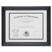 Lawrence Frames Dual Use 28cm by 36cm Certificate Picture Frame with Double Bevel Cut Matting for 22cm by 28cm Document, Black