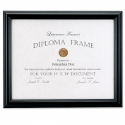 Lawrence Frames 28cm by 36cm Black Diploma Frame, Domed Top