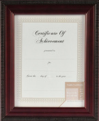Pinnacle Mahogany Beaded Edge Document Frame with Usable Certificate, 22cm by 28cm