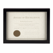 Prinz Carolina Certificate Wood Frame for 22cm by 28cm Photo, Black