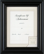 Gallery Solutions Black Satin Document Frame with Usable Certificate, 22cm by 28cm