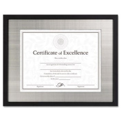 DAX N15788ST Contemporary Wood Document/Certificate Frame, Silver Metal Mat, 28cm x 36cm , Black 4-PACK