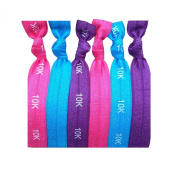 Active Accessories On-The-Go Hair Band Bracelets - 6 hairties in a pack. Mix and match these bracelet hair ties with your outfit and gym clothes!