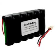Exell NiMH 7.2V 2000mAh Ademco Lynx Alarm Systems Replacement Battery for Walynx-RCHB-SC, Walynx-RCHBSC, RCHB-SC,C8-B33, MS104, K5109, Ademco K5109, Dantona CUSTOM-70, EBC-70, EBC-70-800,Honeywell K10145X10, LYNX LYNXRCHKIT-SC, LYNXRCHKITHC, 55026089, ..