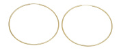 Large 14k Yellow Gold Continuous Endless Hoop Earrings (1.25mm Tube), 58mm