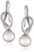 Majorica Pearl and Sterling Silver Knot Drop Earrings