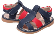 Toddler/Little Kids Boys Close Toe Casual Outdoor Sandal Dark Blue & Red