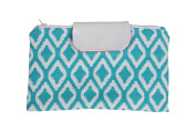 Caught Ya Lookin' Nappy Clutch, Aqua Diamonds/Blue/White/Pink