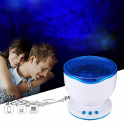 LED Night Light Projector Ocean Daren Waves Projector Projection Lamp with Speaker