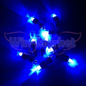 Win-Market 12pcs Blue mini LED DIY waterproof Light for Paper Lantern Balloon Floral birthday Wedding Decoration