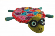 Silk Road Bazaar Turtle Rug, Green/Grey/Purple/Yellow/Pink/Red