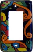 Rainbow Talavera Single Decora Switch Plate