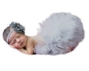 Xinmao Yuanming Photography Prop Newborn Baby Infant Lovely Costume TuTu Dress Flower Headband 0-3 Month