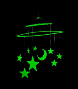 9 Piece Glow in the Dark Star Hanging Mobile