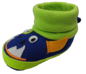 Rising Star Blue Match Monster Sock Top Slippers Size 6-9 Months [3012]