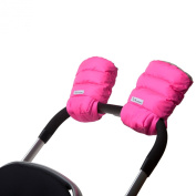 7 A.M. ENFANT Stroller WarMMuffs for Parents and Caregivers, Neon Pink