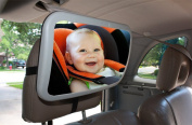 Baby Back Seat Review Mirror for Car By Babybest LLC. Launch Sale! (Originally $27.99) ● Safe, Secure .  Cute Mirror-reflected Printed.