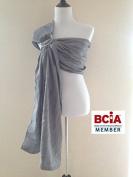 Bibetts Pure Linen Ring Sling 'Grey' Baby Carrier