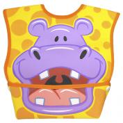 Dexbaby Big Mouth Orange Hippo Bib