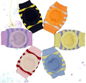 New Boys Girls Unisex Apple Cute Cotton Adjustable Elastic Baby Crawling Child Knee Pad Toddler Elbow Pads Crawling Safety Protector 6pcs