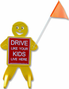 Drive Like Your Kids Live Here-Kids At Play-Outdoor Safety Kid