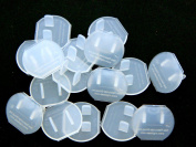 Clear Safety Caps 100 Jumbo Pack for Electrical Outlets and Child Safety, Draught Stopper