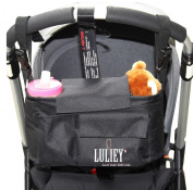 Luliey™ Stroller Organiser Bag - Adjustable to Fit All Models of Strollers - Detaches to Work Like a Shoulder Nappy Bag for Baby -#1 Top Quality- Room for Cell Phone, Bottles & More ✮ Perfect Baby Shower Gift & New Parents Gift  ..